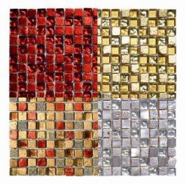 Mosaico Foglia d'oro foglio 30×30 tessera 1,5 x 1,5