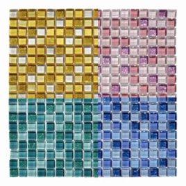 Mosaico Glitter foglio 30×30 tessera 1,5 x 1,5