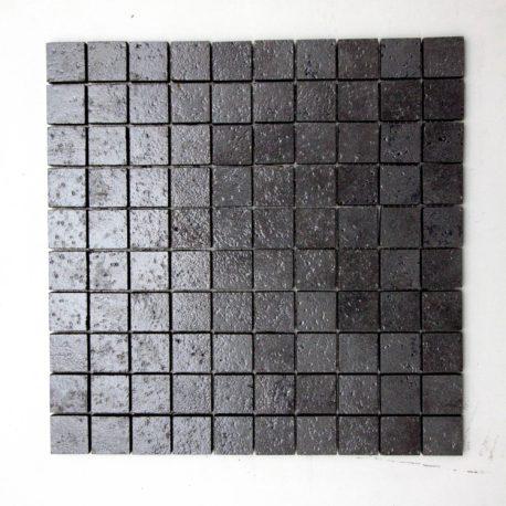 Mosaico incollato su rete 4