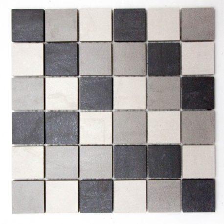 Mosaico incollato su rete 5
