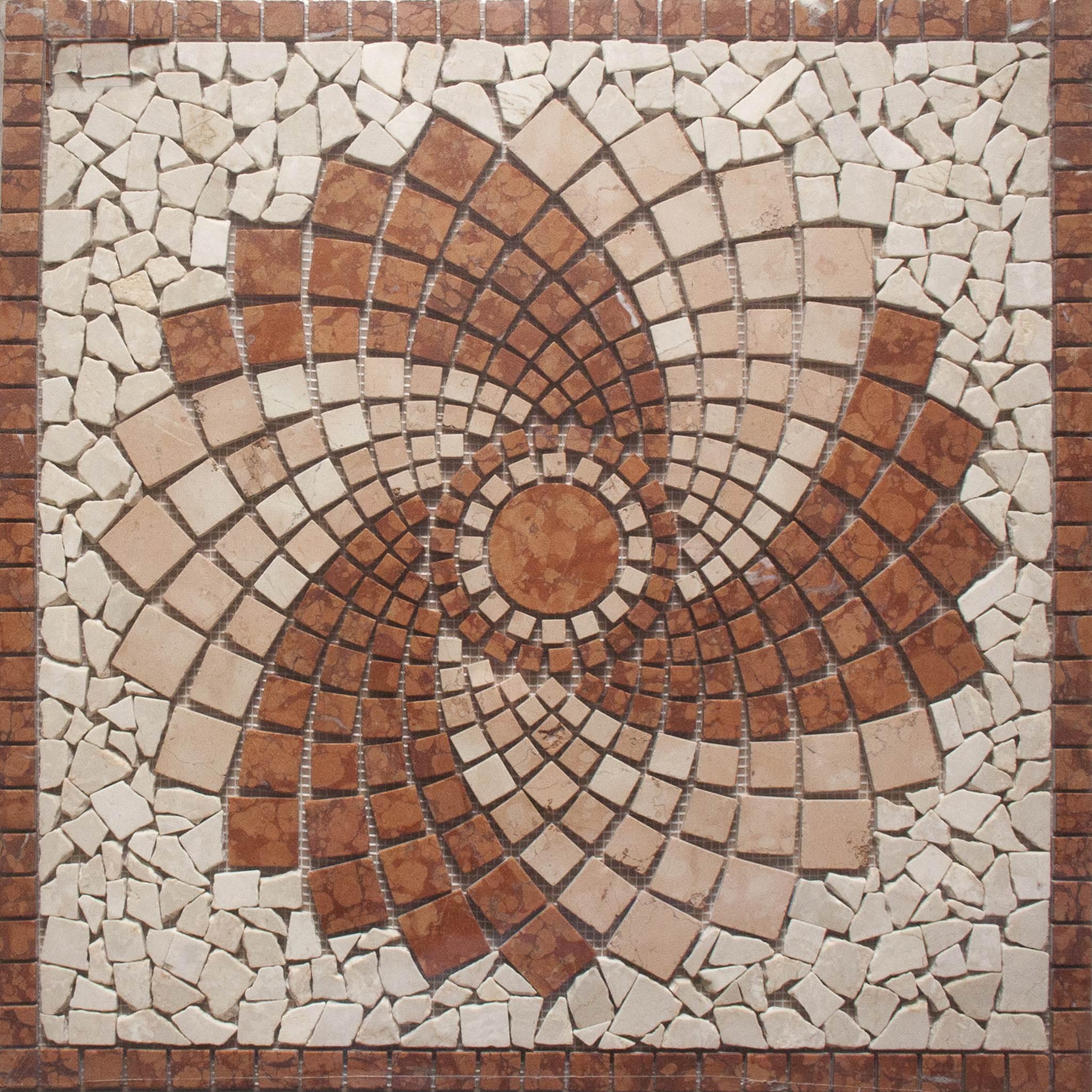 Rosone in marmo m503 66 66 gpm ceramica for Mosaici in marmo per pavimenti