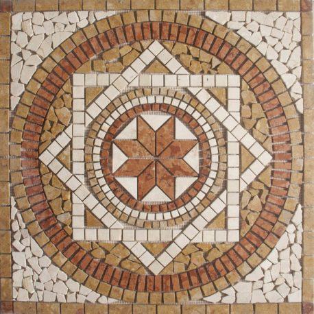 Rosone in marmo m601 66 66 gpm ceramica for Mosaici in marmo per pavimenti